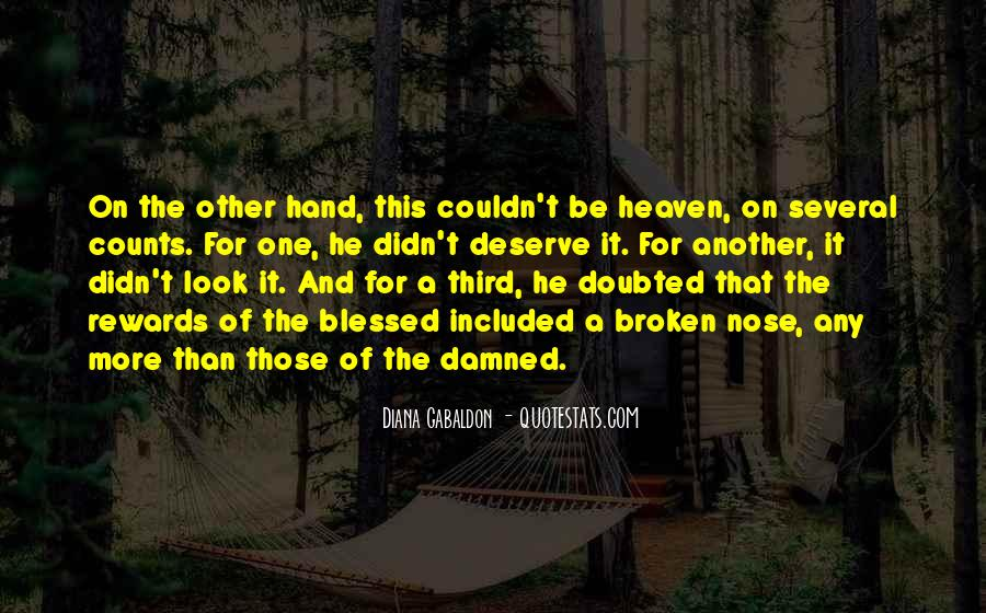 Quotes About Broken Hand #1548785