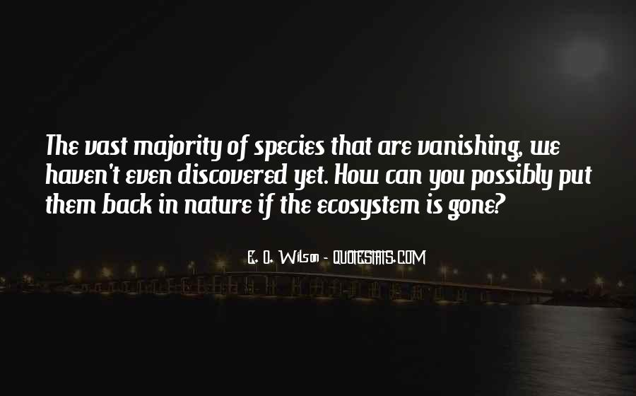 Quotes About Ecosystems #24093