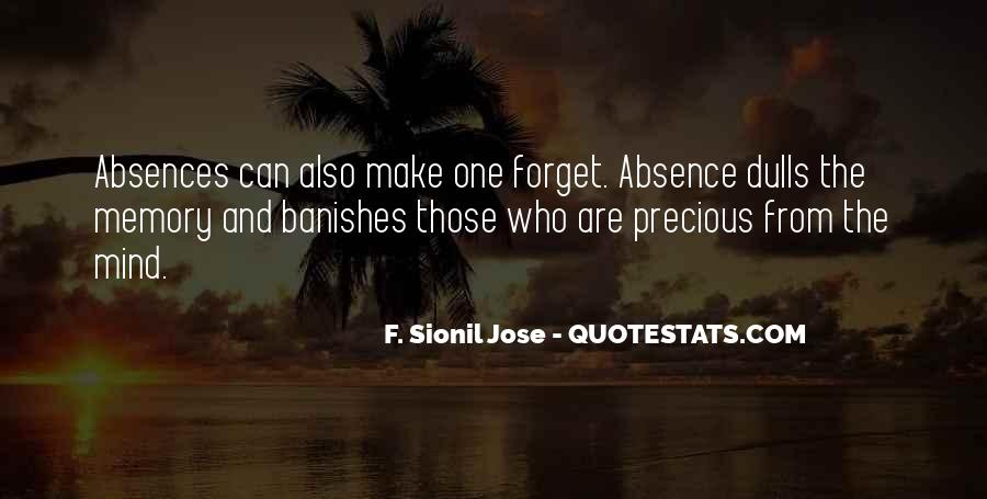 Quotes About Absences #1047894