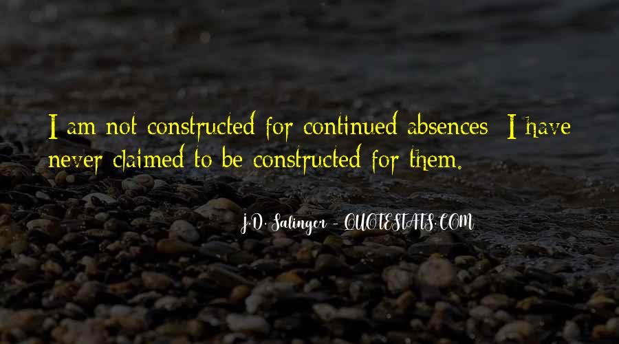 Quotes About Absences #1114199
