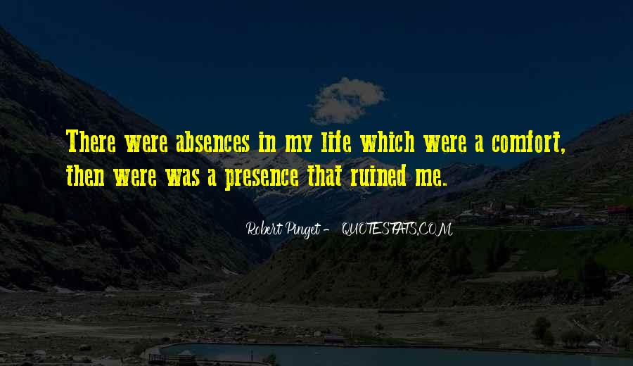 Quotes About Absences #530405