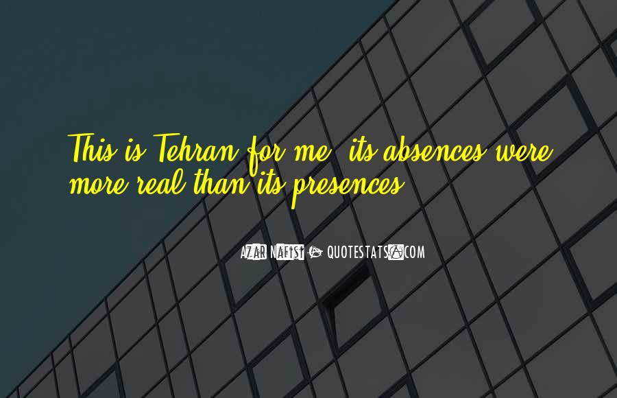Quotes About Absences #604989