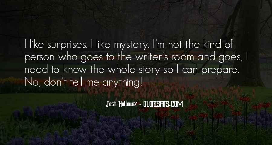 Quotes About Mystery Stories #1724849