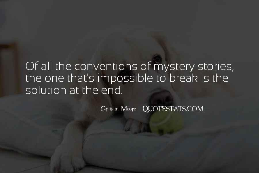 Quotes About Mystery Stories #61603