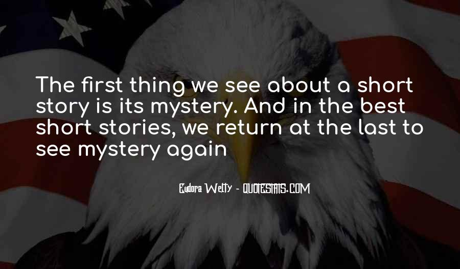 Quotes About Mystery Stories #902557