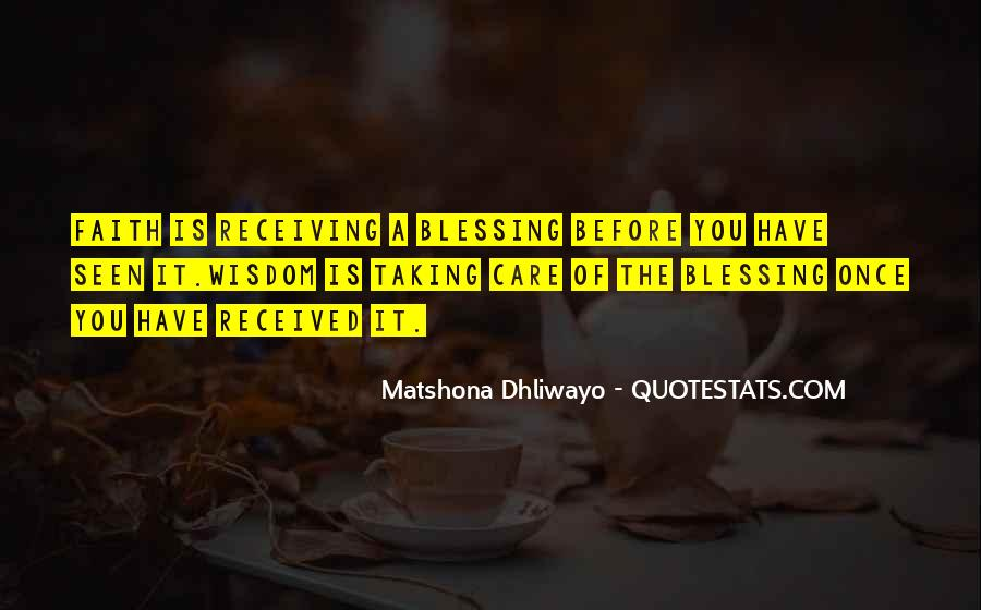 Quotes About Receiving A Blessing #1771117