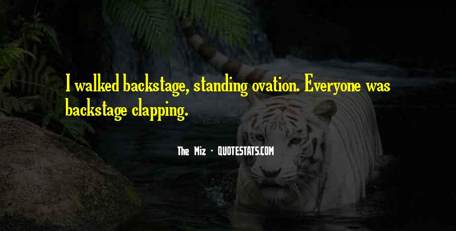 Quotes About Clapping #1446302