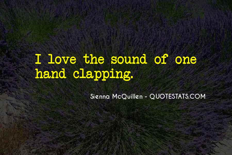 Quotes About Clapping #399616