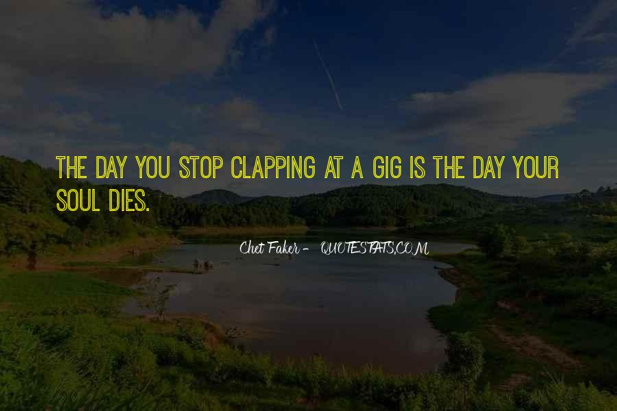 Quotes About Clapping #764022