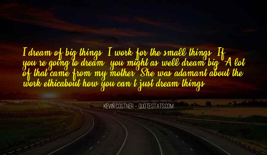 Quotes About My Big Dream #1280129