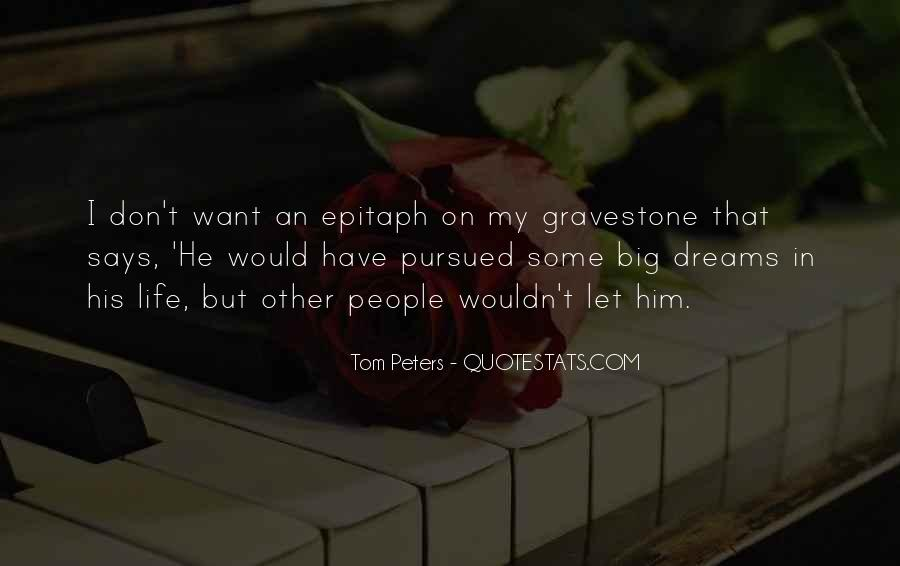 Quotes About My Big Dream #1455196