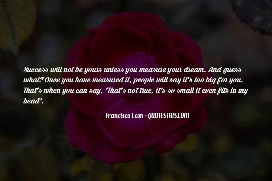 Quotes About My Big Dream #234526