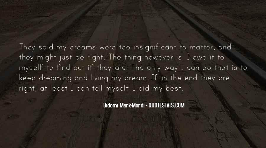 Quotes About My Big Dream #993936