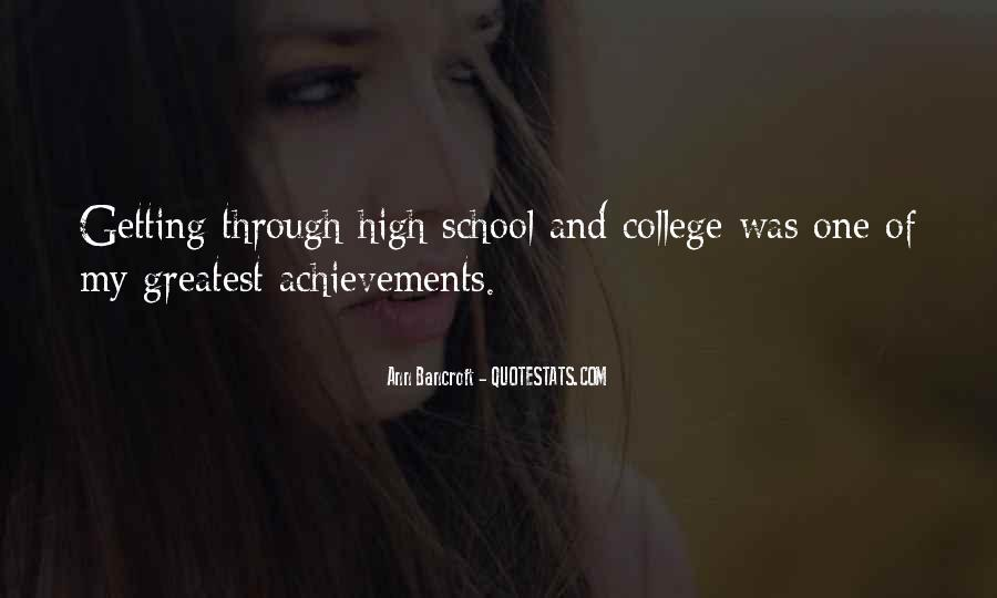 Quotes About Achievements In School #1030663