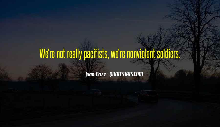 Quotes About Pacifists #1106092
