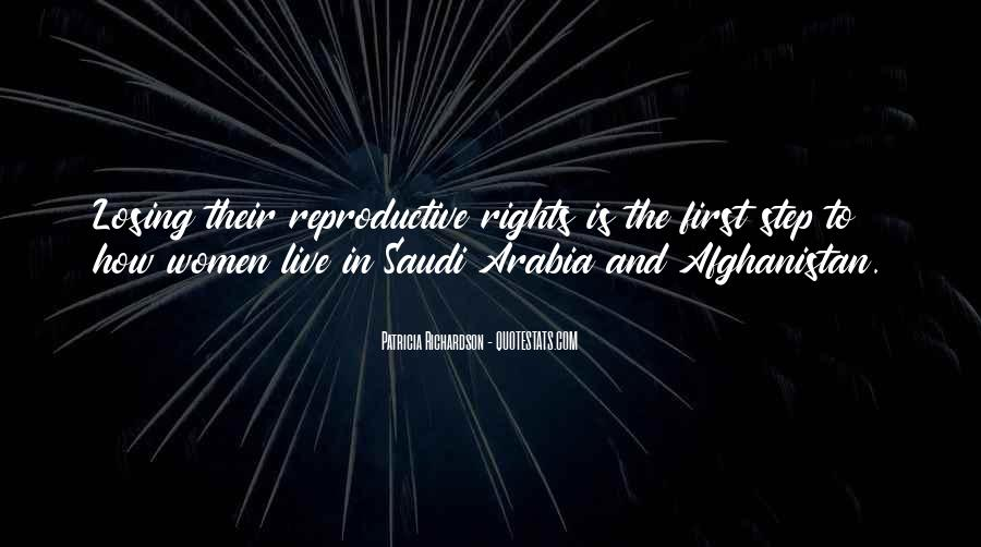 Quotes About Women's Rights In Saudi Arabia #1054738