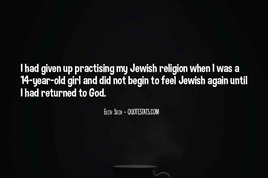 Quotes About Jewish Religion #1606476