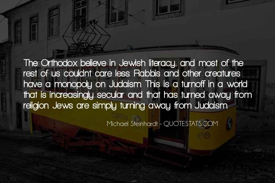 Quotes About Jewish Religion #705150