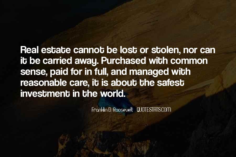 Quotes About Real Estate Investment #387108