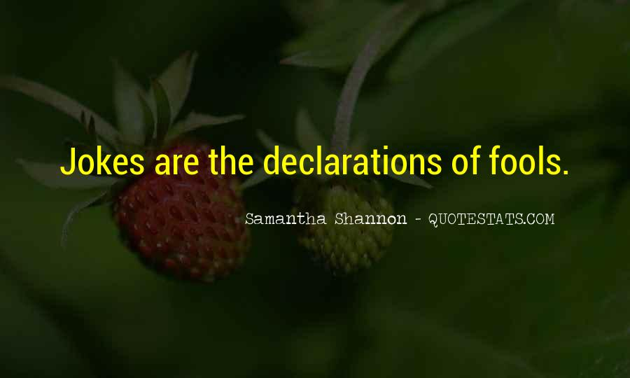 Quotes About Declarations #1154569