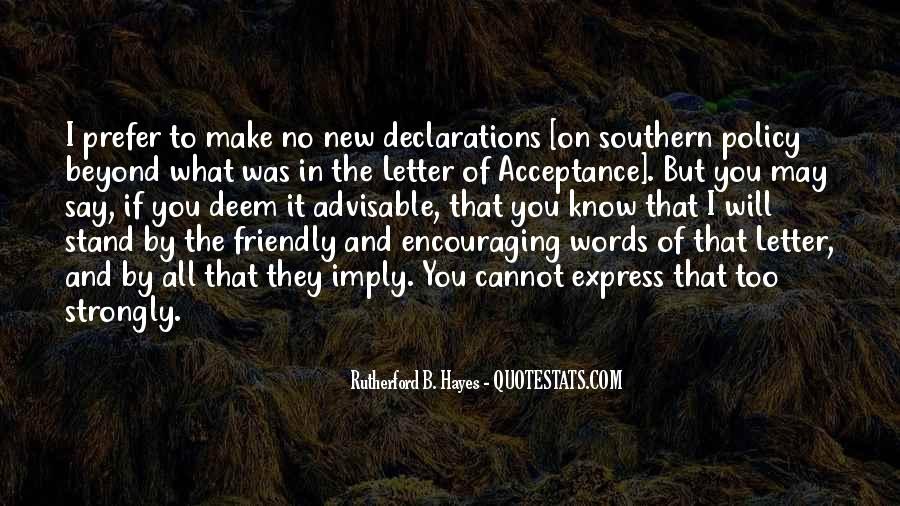 Quotes About Declarations #1634572