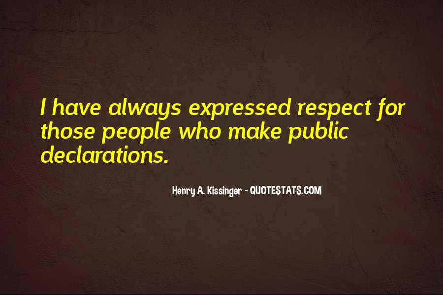 Quotes About Declarations #948769