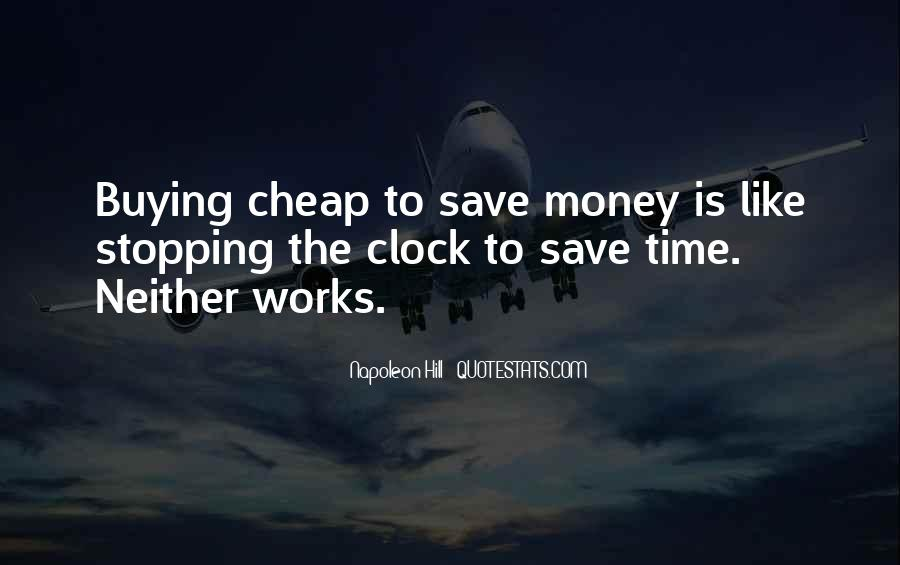 Quotes About Saving Money And Time #252761