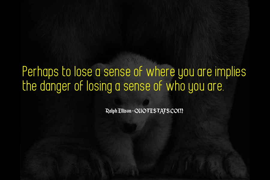 Quotes About Losing Who You Are #173321