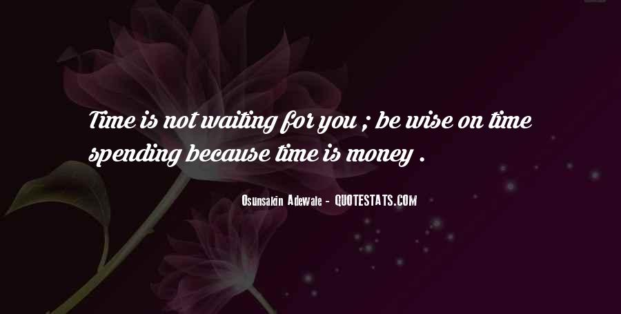 Quotes About Time Not Money #393452