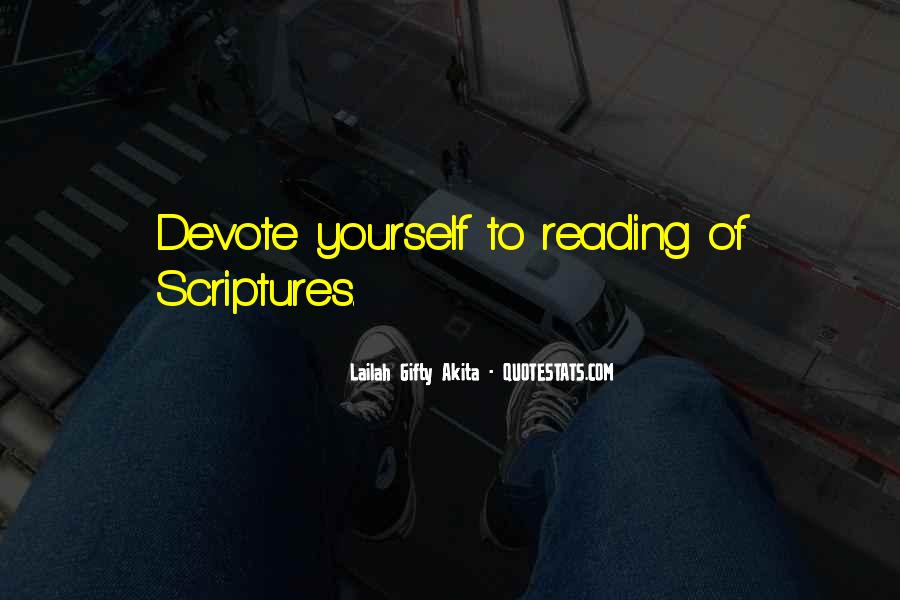Quotes About Reading Scriptures #795928