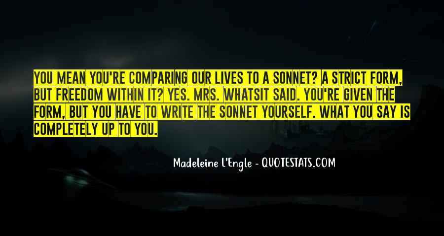 Quotes About Comparing To Ex #25112
