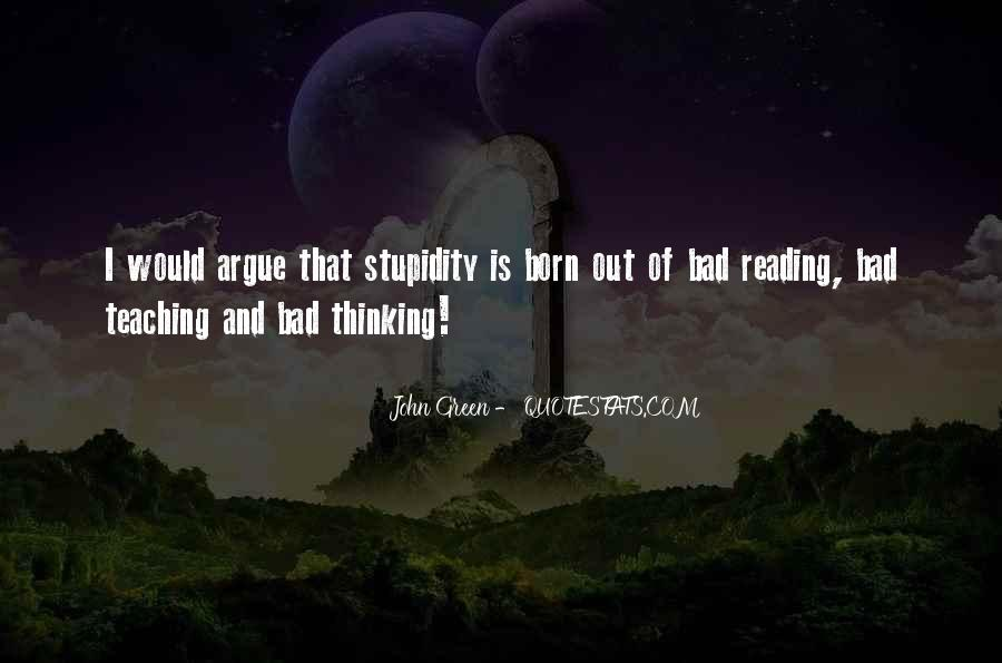 Quotes About Reading And Thinking #334626