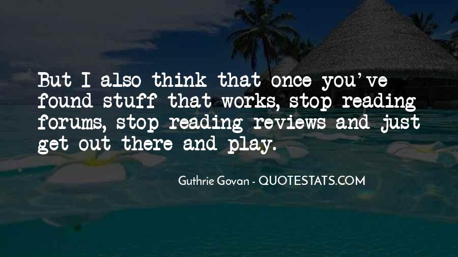Quotes About Reading And Thinking #367094