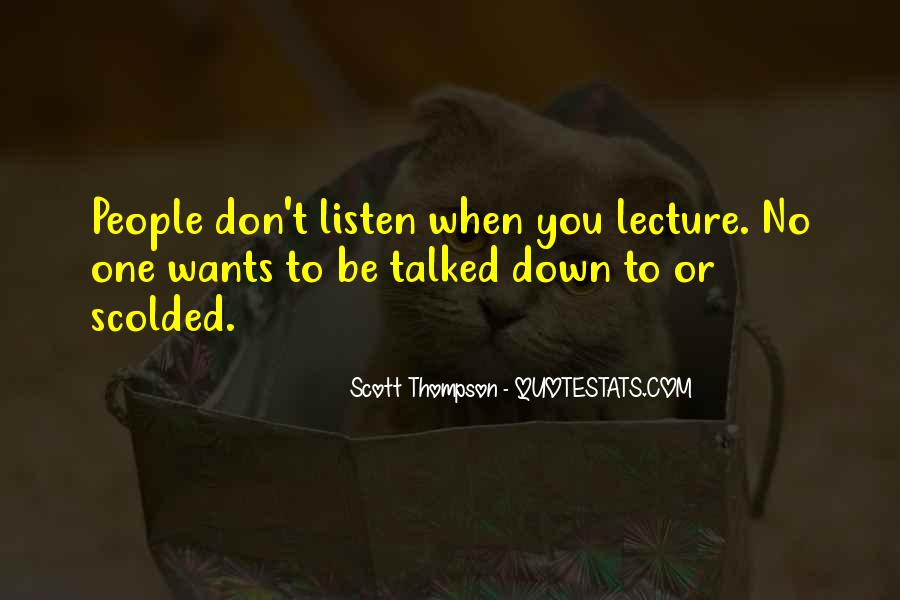 Quotes About Being Scolded #957995