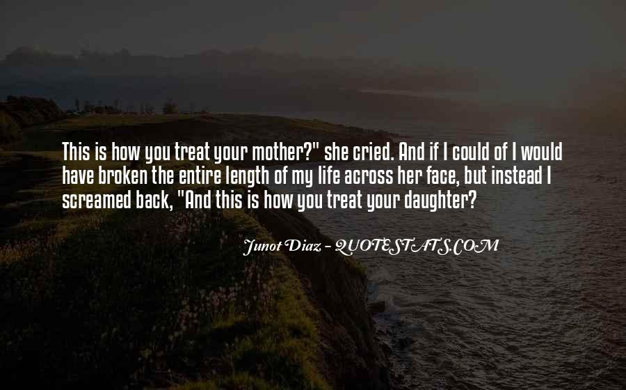Quotes About How You Treat Your Mother #175388