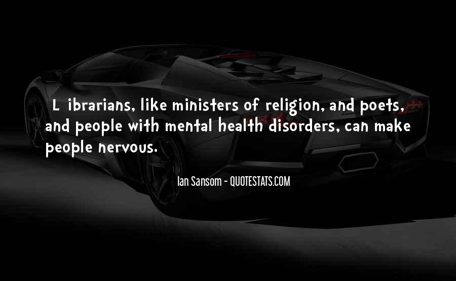 Quotes About Mental Disorders #1092275