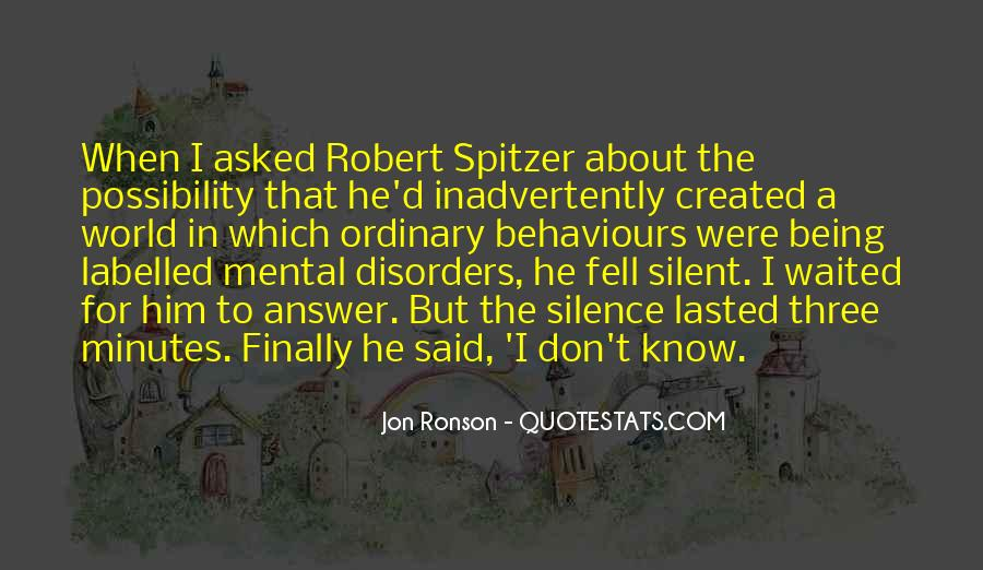 Quotes About Mental Disorders #221956