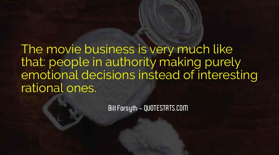 Quotes About Rational Decisions #1024694