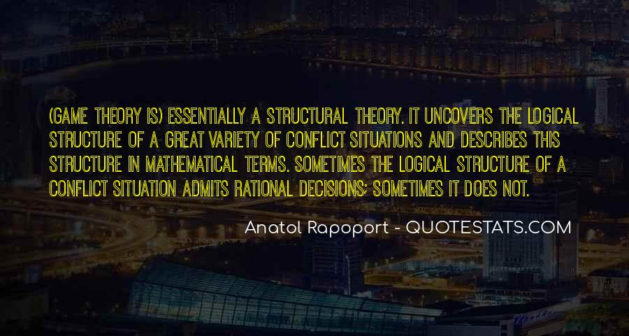 Quotes About Rational Decisions #1437544