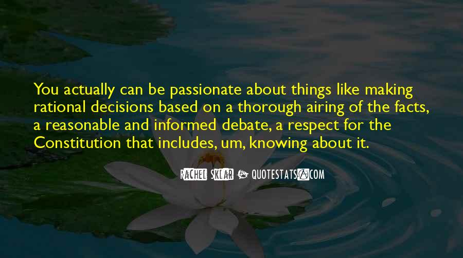 Quotes About Rational Decisions #1772372