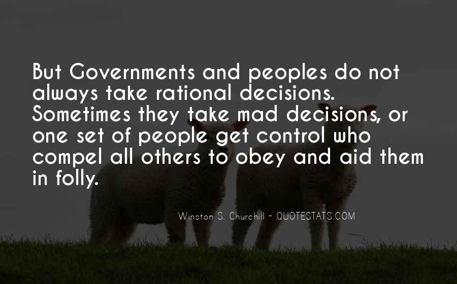 Quotes About Rational Decisions #482147