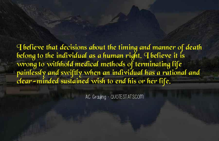 Quotes About Rational Decisions #891016