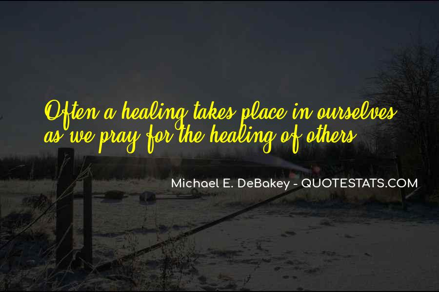 Quotes About Prayer And Healing #980725