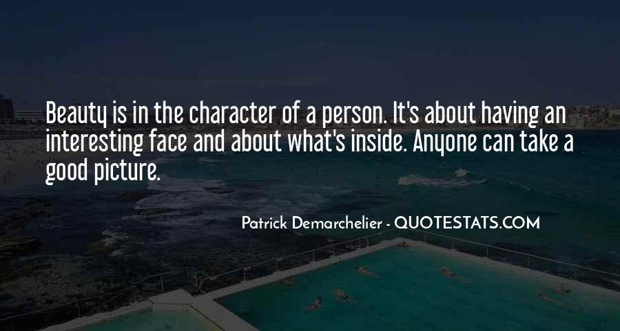 Quotes About Beauty And Character #1876138