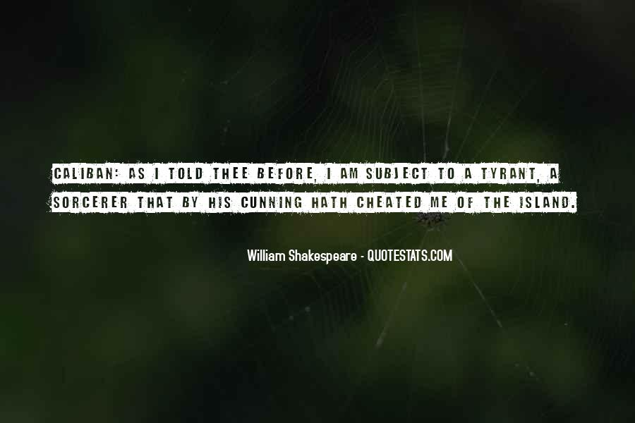 Quotes About Caliban From The Tempest #1337017