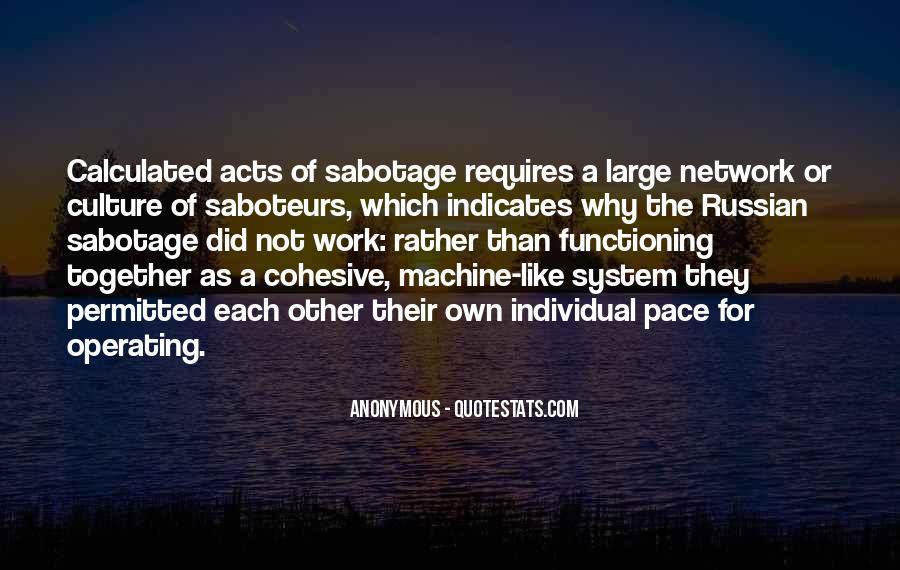 Quotes About Saboteurs #1341179