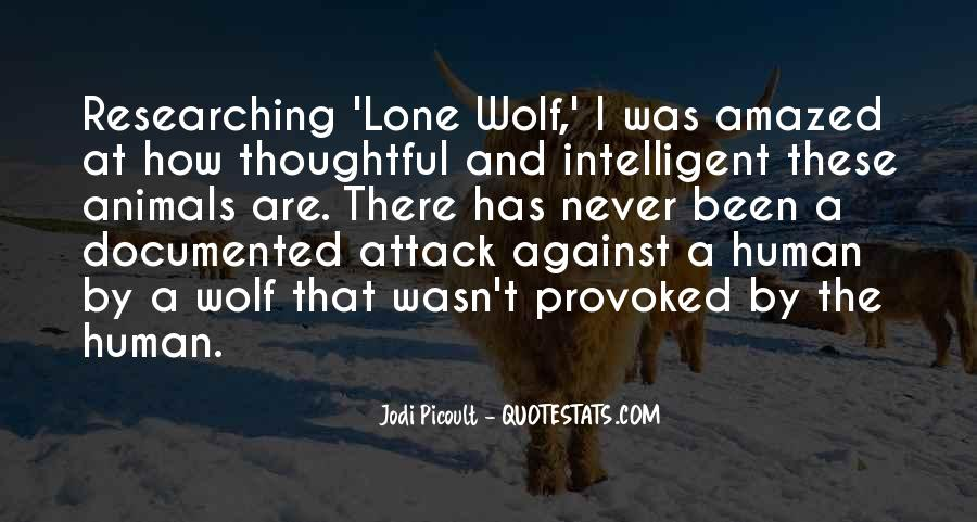 Quotes About Lone Wolf #1629383