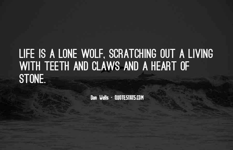 Quotes About Lone Wolf #211411