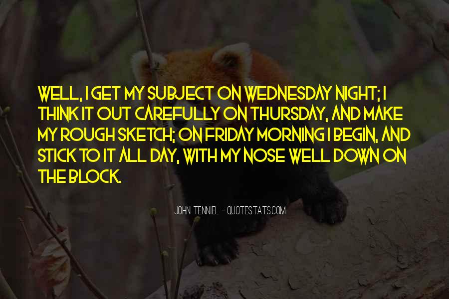 Quotes About Wednesday Night #1606046