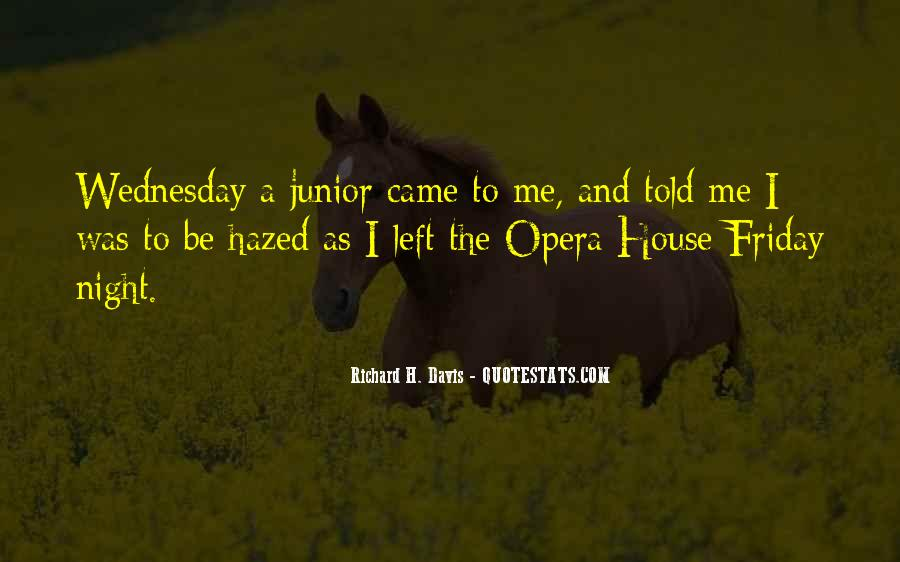 Quotes About Wednesday Night #1646528